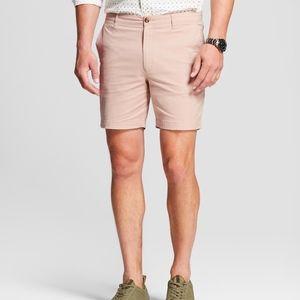 """Men's Flat Front 7"""" Shorts - Goodfellow - Peach"""